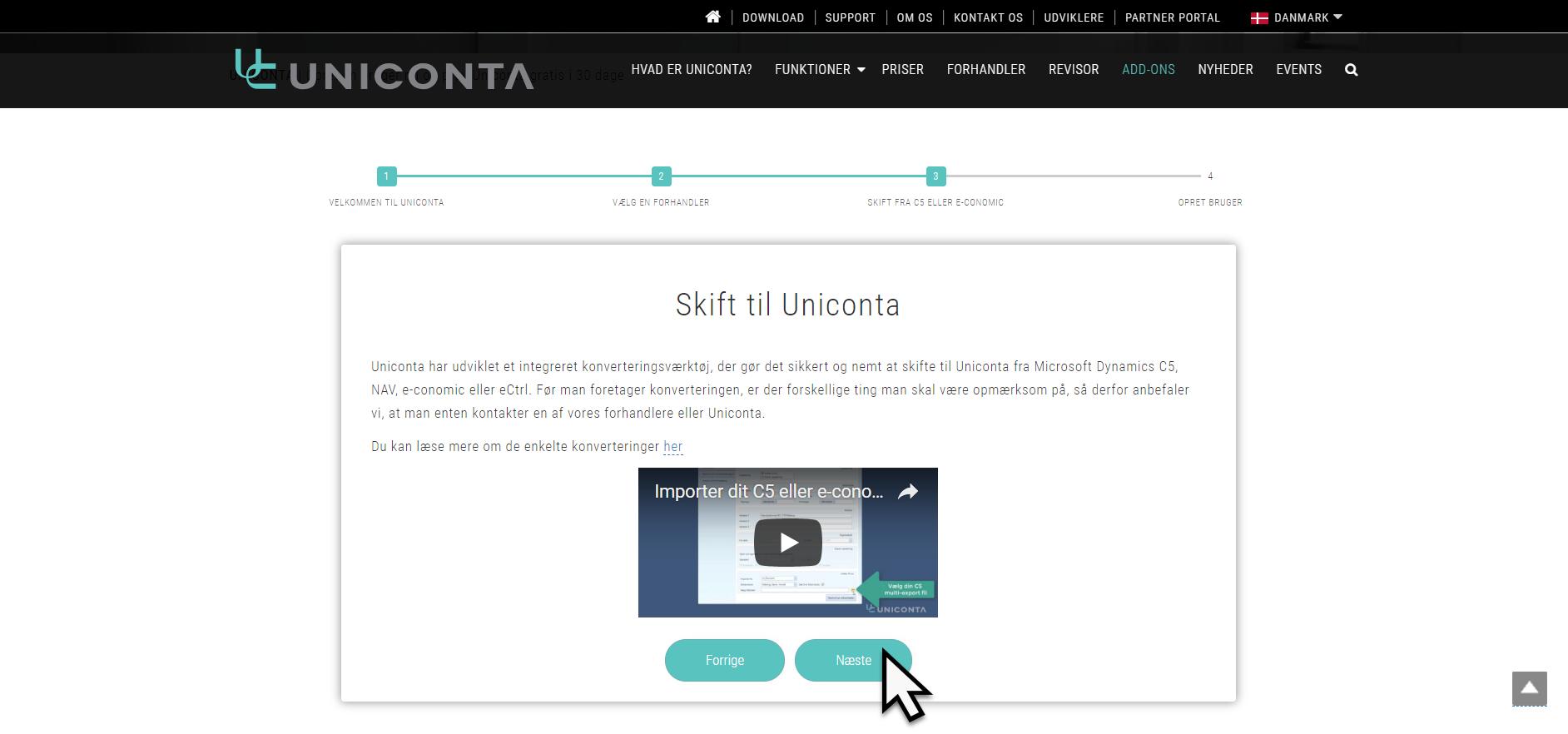 Kom i gang, Kom i gang med Uniconta, Uniconta