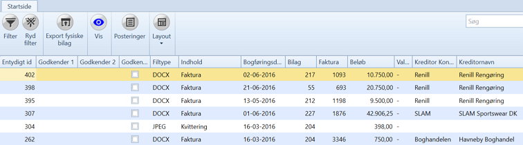 , Eksporter utskrifter og data til fil, Uniconta