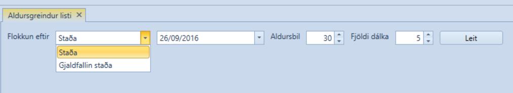 , Aldursgreindar stöður viðskiptavina og lánardrottna, Uniconta