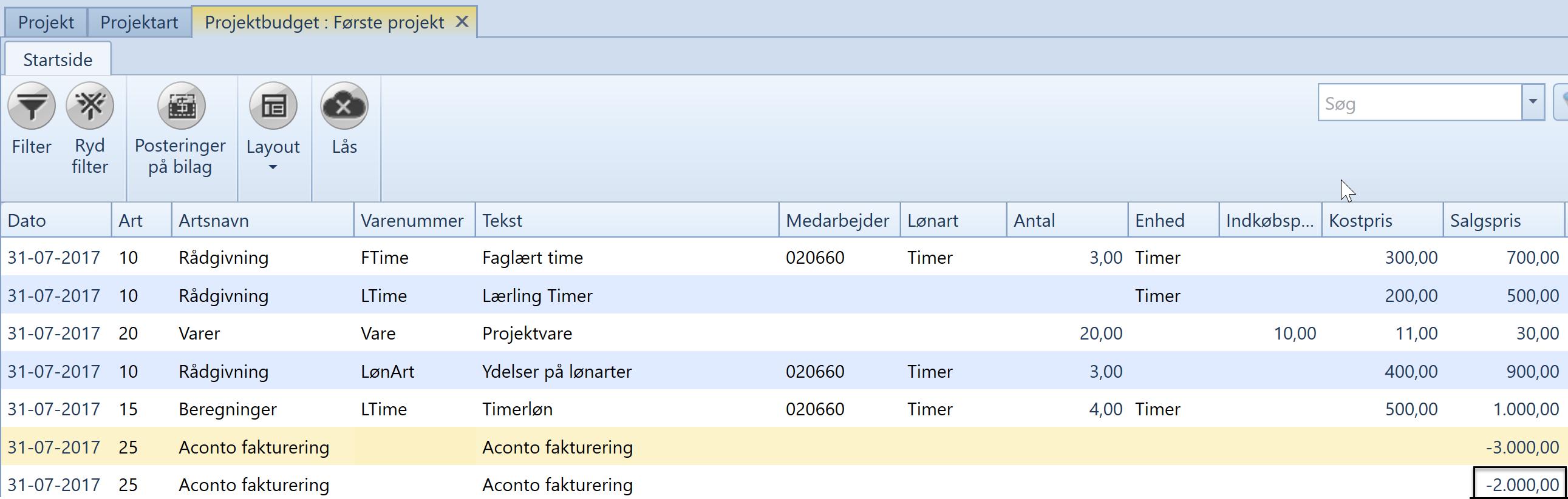 fe66a716 Aconto fakturering - Uniconta