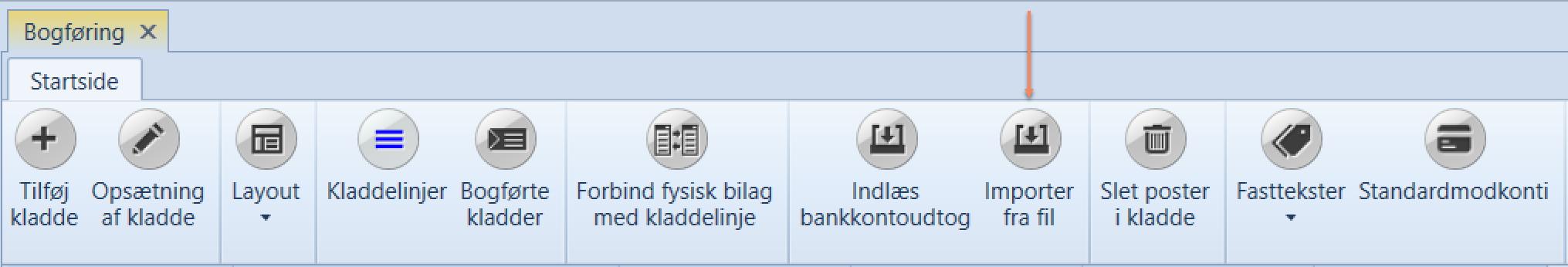 importer fra fil, Importer fra fil, Uniconta