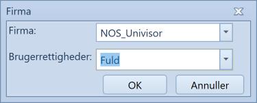 , Opprettelse av standard bruker (Univisor), Uniconta