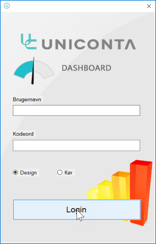 , Dashboard. Kom i gang, Uniconta