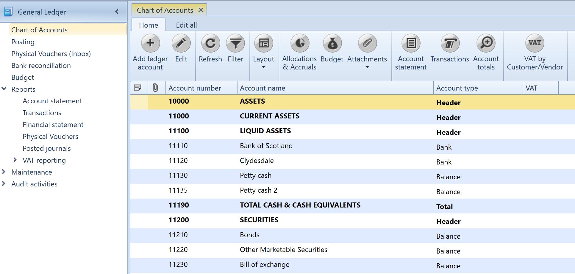 Uniconta Import A Chart Of Accounts Uniconta