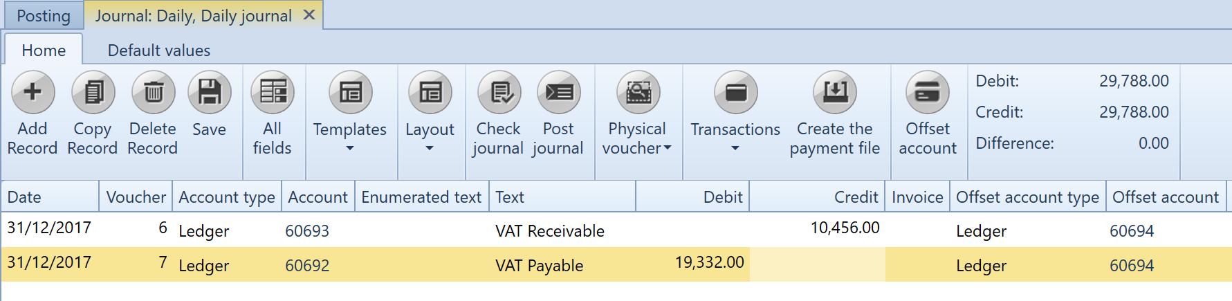 , VAT specification – Denmark, Uniconta