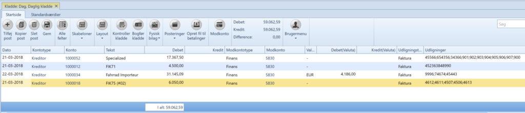 , Merge payments, Uniconta