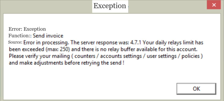 , Mail server set up errors, Uniconta
