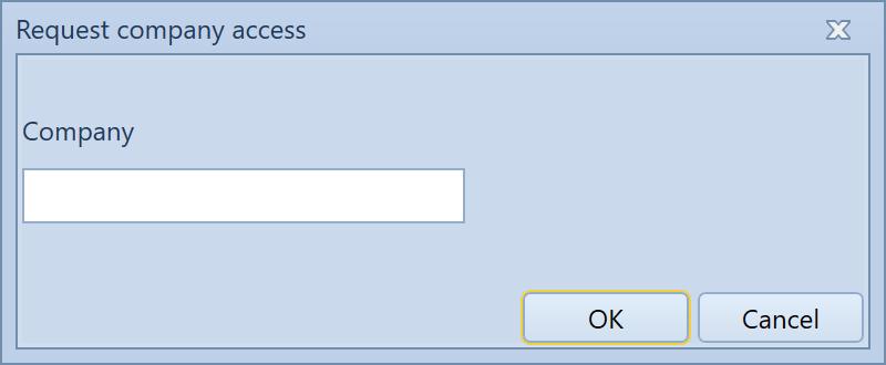 , Request company access, Uniconta