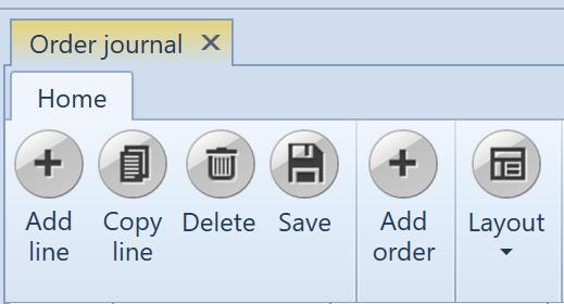 , Order journal, Uniconta