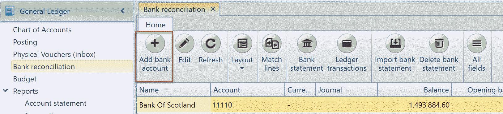 Bankabstimmung - Uniconta