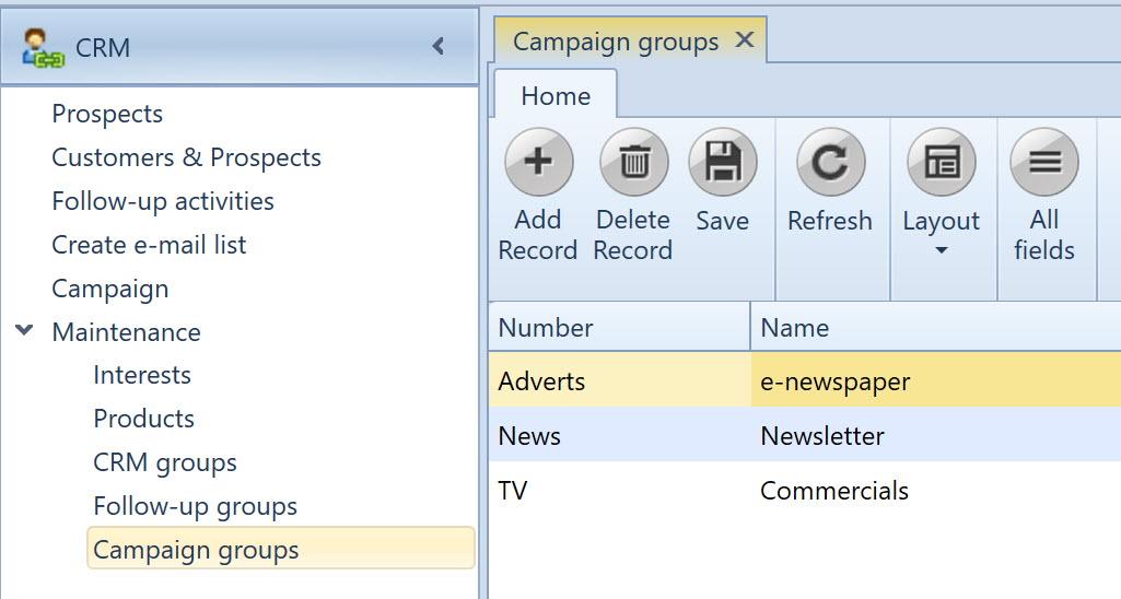 , Campaign groups, Uniconta
