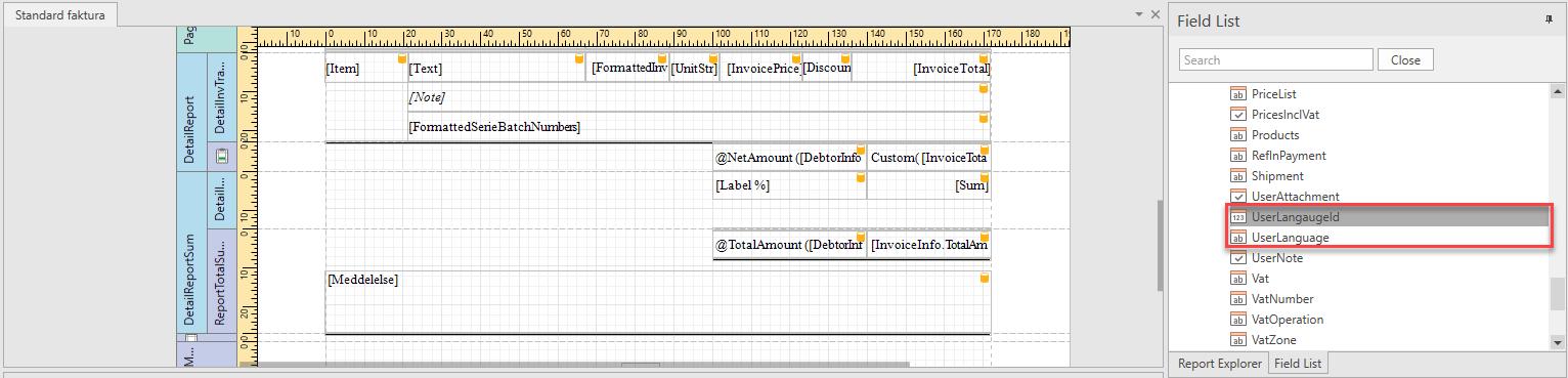 , Conditional Expression based on Debtor/Creditor Language, Uniconta