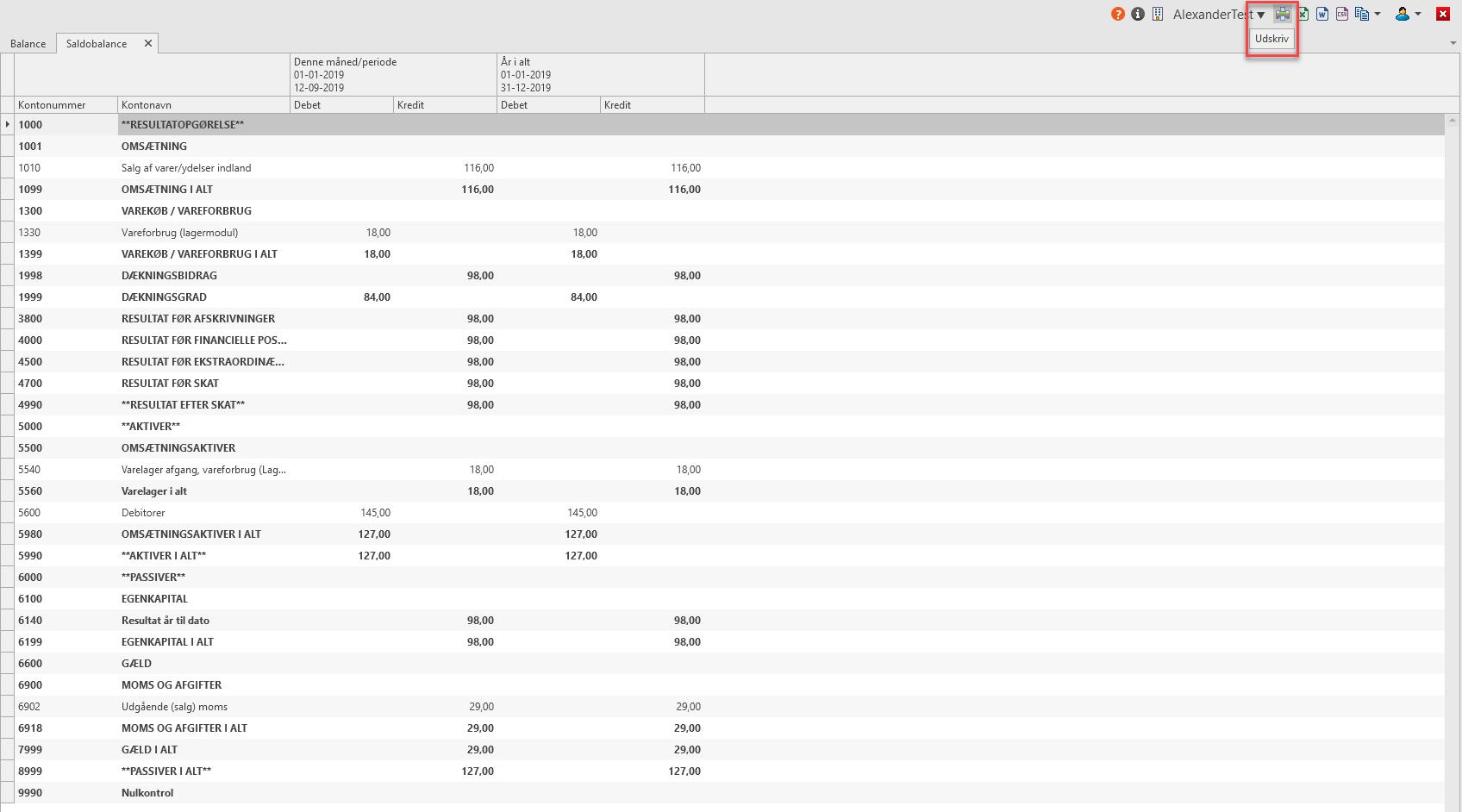 , Company accounts cover page, Uniconta