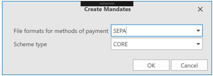 , Mandates (SEPA), Uniconta