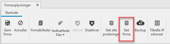 , Slet regnskab, Uniconta