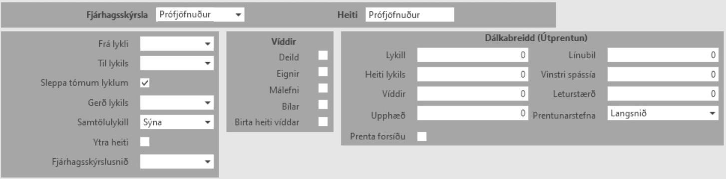 , Fjárhagsskýrslur, Uniconta