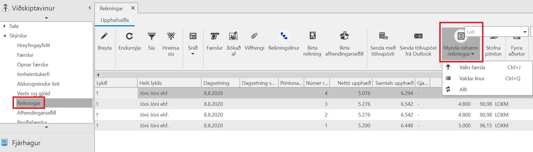 , Rafrænir reikningar – fljóta leiðin, Uniconta