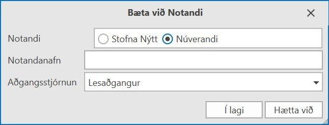 , Aðgangsstýring notenda, Uniconta