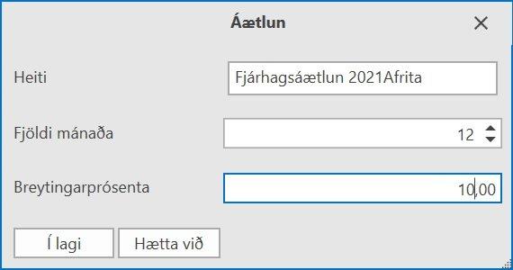 , Áætlun, Uniconta